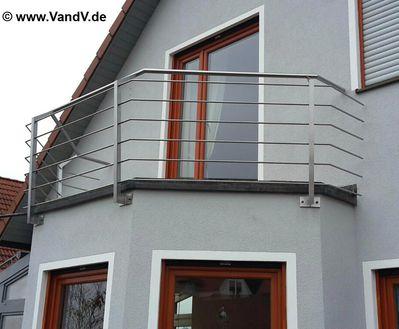 v v distribution edelstahl nach ma balkon und terrassen gel nder edelstahl balkongel nder nr 55. Black Bedroom Furniture Sets. Home Design Ideas